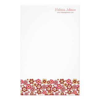 Sweet Pink Candy Daisies Flowers Girly Pattern Fun Stationery