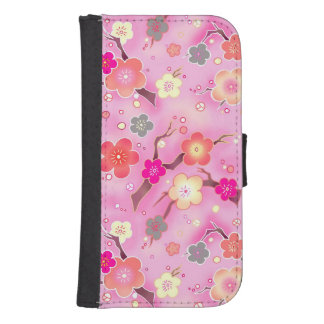 Sweet pink cherry blossoms galaxy S4 wallet case