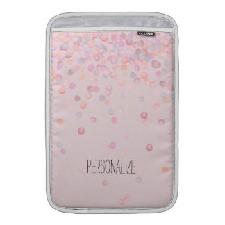 Sweet Pink Confetti Dots MacBook Air Sleeve