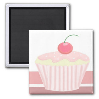 Sweet Pink Cupcake Magnets