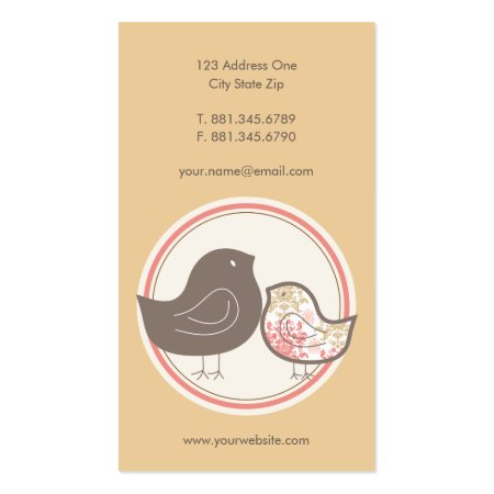 Cute Mother Bird and Baby Chick Baby Store Business Cards