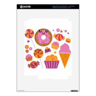 Sweet pink donuts / Products Skins For iPad 3