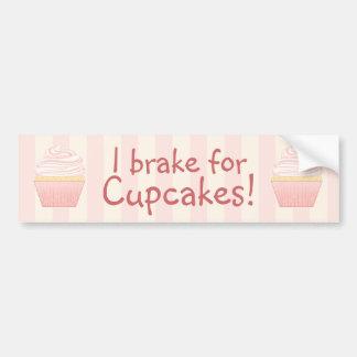 Sweet Pink Elegant Cupcake Bumper Sticker