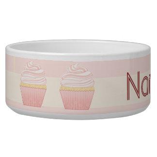 Sweet Pink Elegant Cupcake Dog Bowls