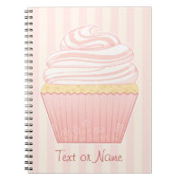Sweet Pink Elegant Cupcake Notebook