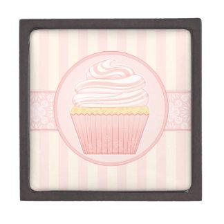 Sweet Pink Elegant Cupcake Premium Keepsake Box