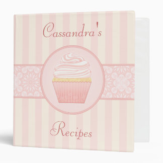 Sweet Pink Elegant Cupcake Recipe Binder