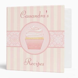 Sweet Pink Elegant Cupcake Recipe Binders