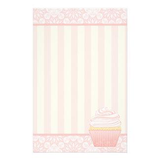 Sweet Pink Elegant Cupcake Stationery