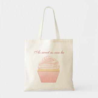 Sweet Pink Elegant Cupcake Tote Bag
