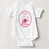Sweet Pink Elephant Baby T-Shirt
