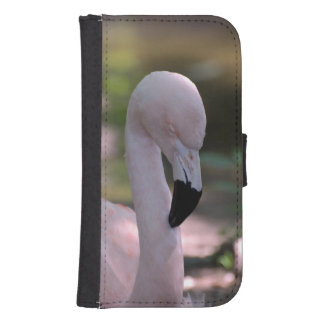 Sweet Pink Flamingo Galaxy S4 Wallet Cases