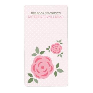 Sweet Pink Floral Label