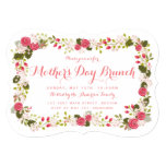 "Sweet Pink Floral Mother's Day Brunch Invitation 5"" X 7"" Invitation Card"