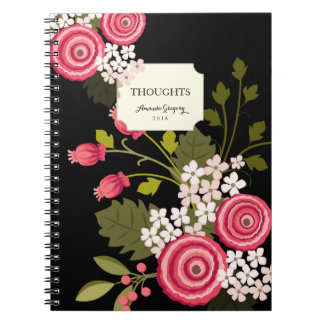 Sweet Pink Floral Personalized Journal
