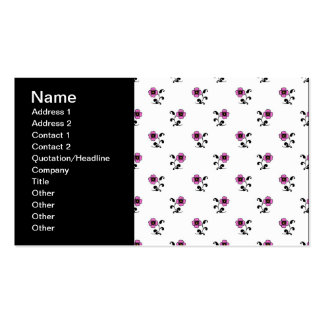 Sweet Pink Flowers Pattern Double-Sided Standard Business Cards (Pack Of 100)