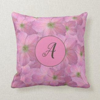 Sweet Pink Flowers with Custom Monogram