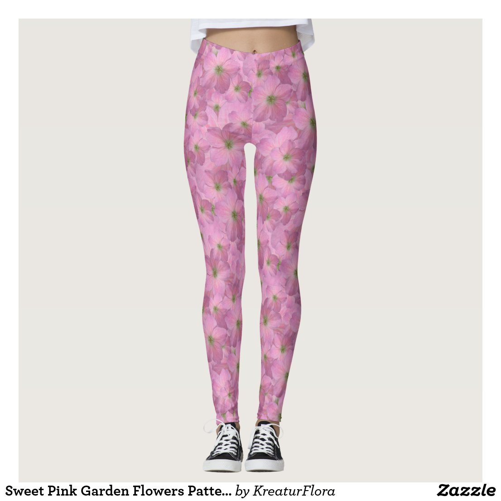 Sweet Pink Garden Flowers Pattern