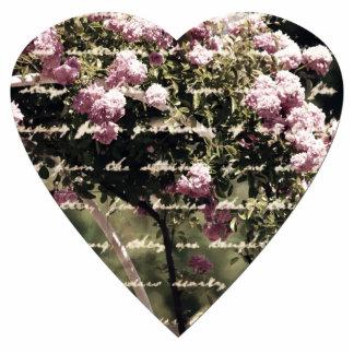 Sweet Pink Garden of Roses Heart Cutout
