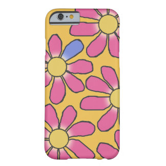 Sweet Pink Graphical Flowers on any Color Barely There iPhone 6 Case