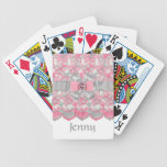 SWEET Pink & Gray Rhinestones Deck of playing Card Bicycle Card Deck