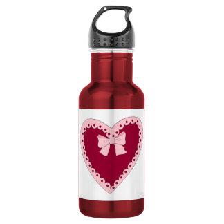 Sweet Pink Heart 18oz Water Bottle