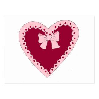 Sweet Pink Heart Postcards