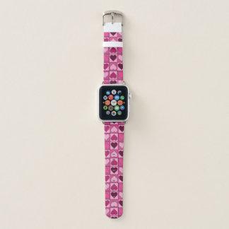 Sweet Pink Hearts Pattern Apple Watch Band