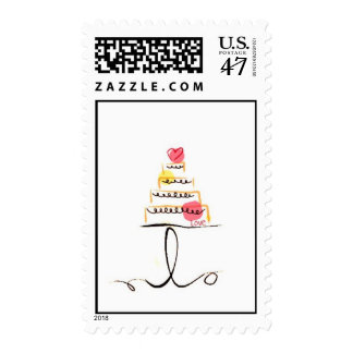 Sweet Pink Icing on the Cake Postage Stamp