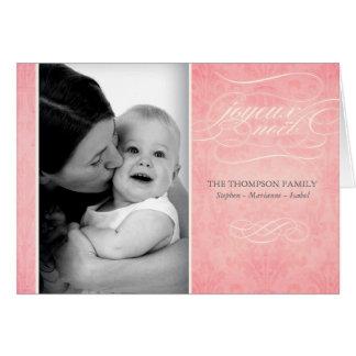 "Sweet Pink ""Joyeux Noël"" photo card"