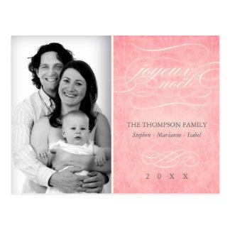 "Sweet Pink ""Joyeux Noël"" photo postcard"