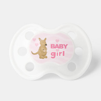 Sweet Pink Kangaroo Mommy and Baby Pacifier