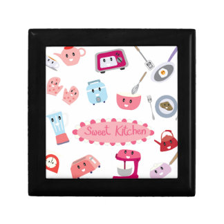 Sweet pink kitchen electricity and tool cute icon jewelry box