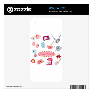 Sweet pink kitchen electricity and tool cute icon skins for iPhone 4S