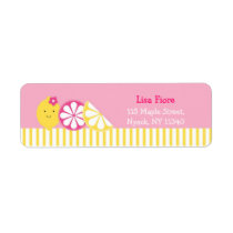 Sweet Pink Lemonade Address Labels