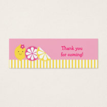 Sweet Pink Lemonade Goodie Bag Tags
