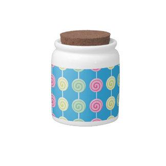 Sweet Pink Lollipop Candy Jar