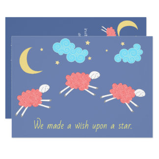 Sweet Pink Lullaby Baby Shower Card