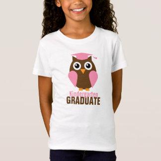 Sweet Pink Owl Kindergarten Graduate T-Shirt