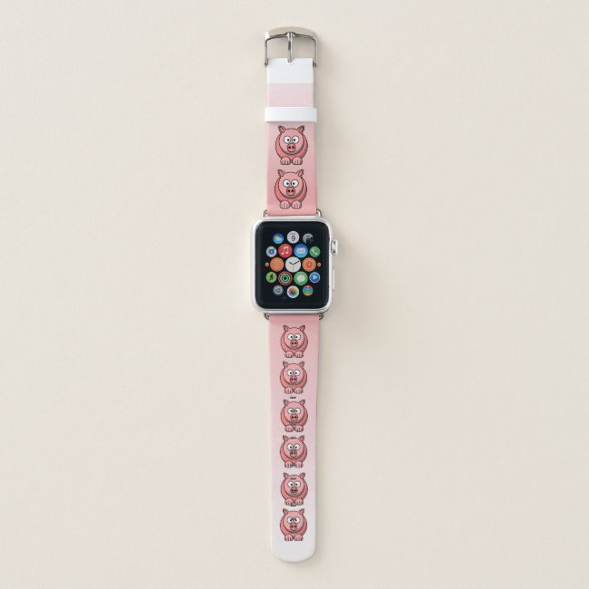 Sweet Pink Pig Apple Watch Band