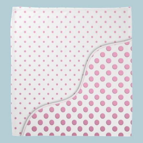 Sweet Pink Polka Dots Pattern Bandana