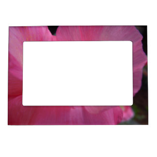 Sweet Pink Poppy Heart Magnetic Frame