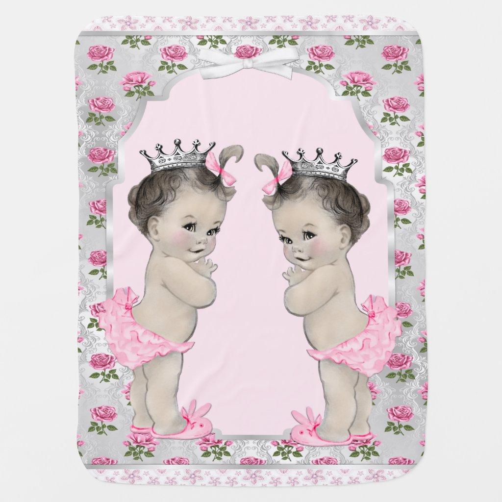 Sweet Pink Princess Twin Baby Baby Blanket