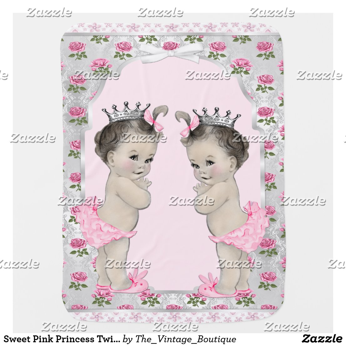 Sweet Pink Princess Twin Baby Baby Blanket