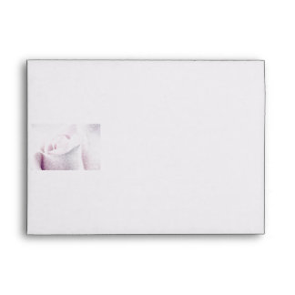 Sweet Pink Rose, floral crayon painting art Envelope