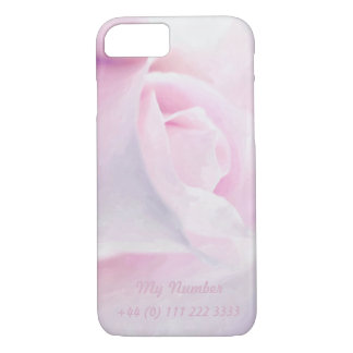 Sweet Pink Rose, floral watercolor, My cellphone iPhone 8/7 Case