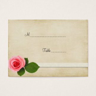 Sweet Pink Rose Table Place Card