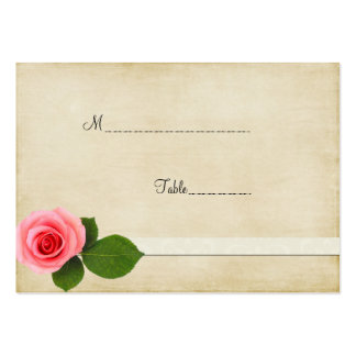 Sweet Pink Rose Table Place Card Business Card Templates