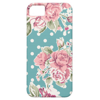 Sweet Pink Roses and Polka Dots iPhone SE/5/5s Case