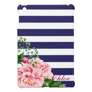 Sweet Pink Roses Rosebud Stripes Cover For The iPad Mini